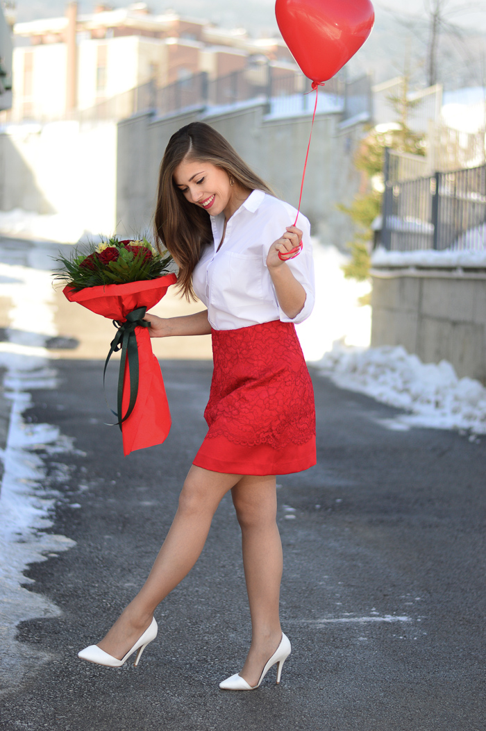 Red and White Valentine's day Purely Me by Denina Martin