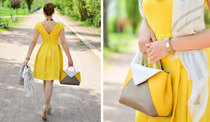 Yellow Dress Bulgarian Fashion Blogger Bulgaria Mall Denina Martin