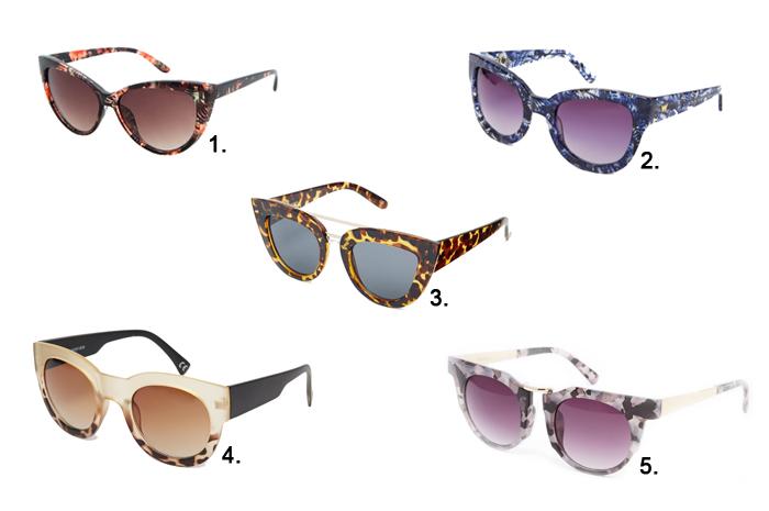 Five Fashion Favorites Sunglasses
