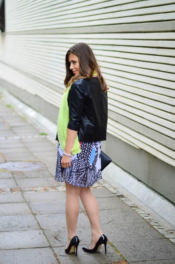 Bulgarian Fashion Blogger Denina Martin wearing the Desigual Natalia dress from the Lacroix collection