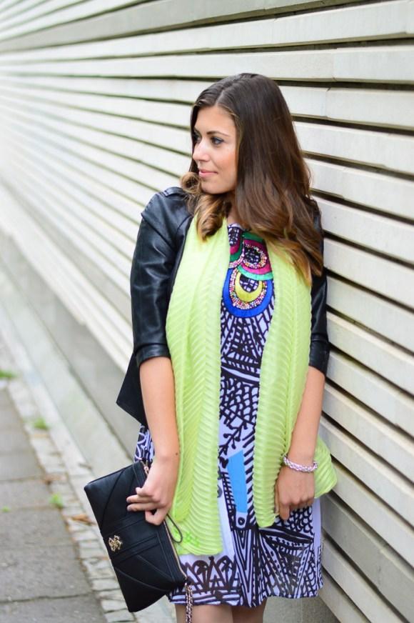 Desigual Natalia Dress Liu Jo Scarf Styled by Denina Martin