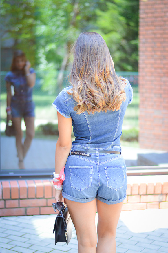 Denim Romper by Gas Jeans from Bulgaria Mall -styled by Denina Martin