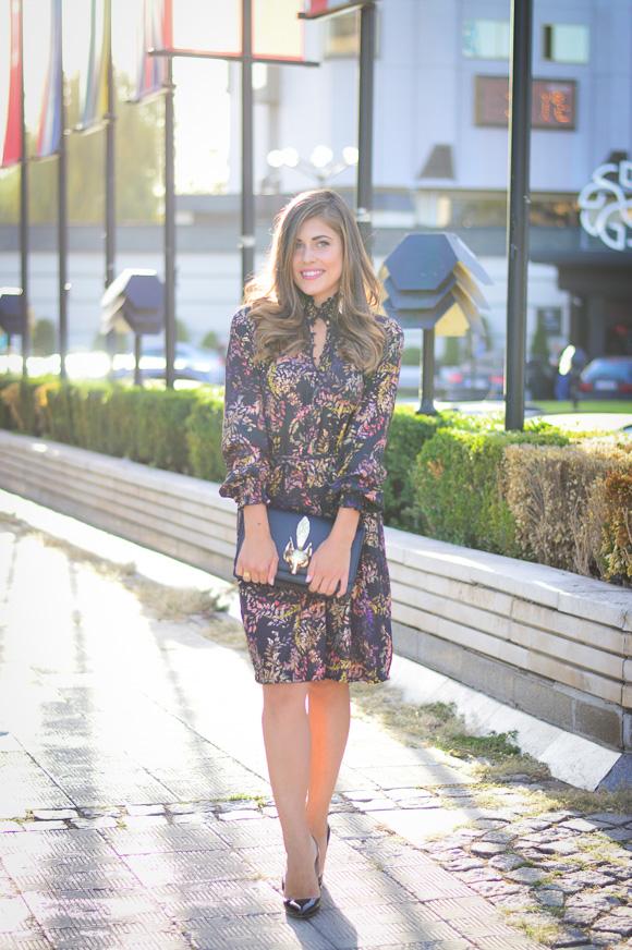 Sofia-Fashion-Week-Day1-HM-Dress-Fox-Clutch-Denina-Martin-1