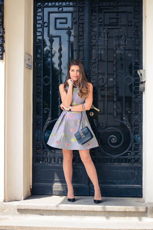 Denina Martin Wearing Occaisiom Dress from Chic