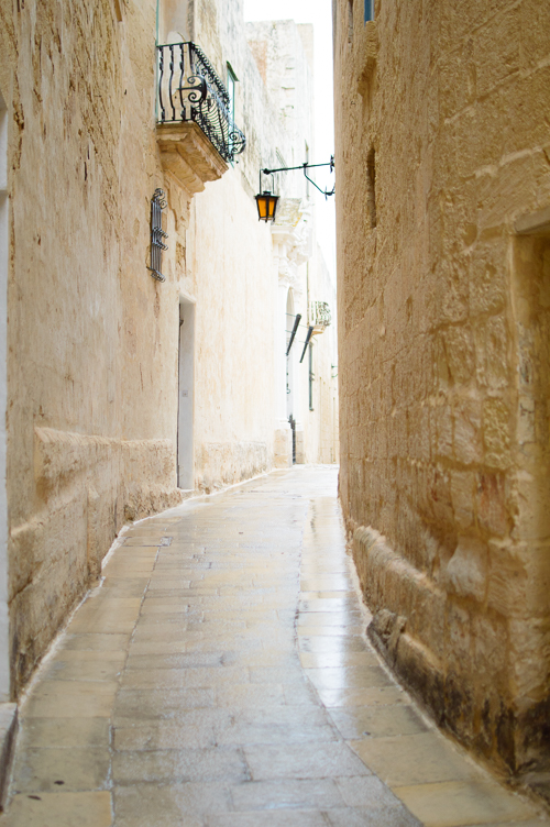 Curve old street in Mdina