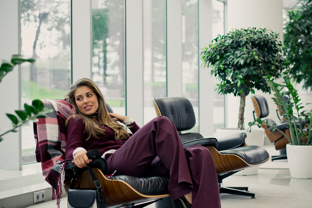 Benetton Burgundy Fall Layering Denina Martin Bulgaria Mall
