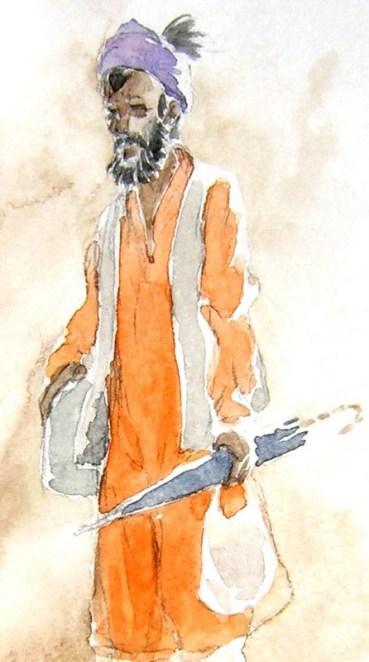 sadhu au parapluie