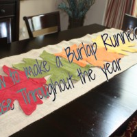 Burlap Table Runner Tutorial