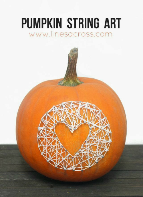 Pumpkin String Art @linesacross