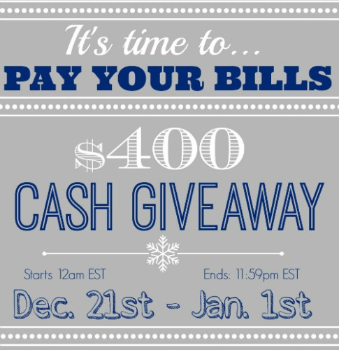 $400 Cash Giveaway Today