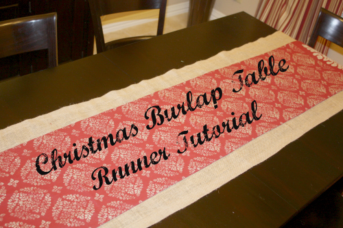 christmas burlap runner feature
