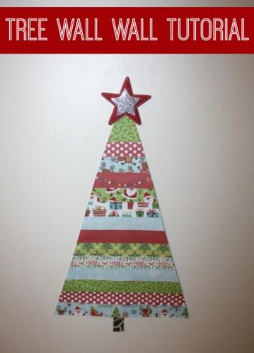 Christmas Tree Wall Design Tutorial
