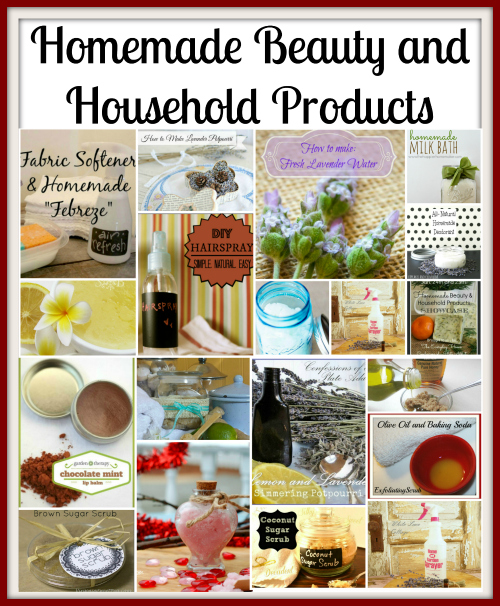 homemade beauty and household collage feature