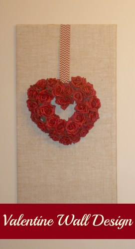 valentine burlap wall design feature