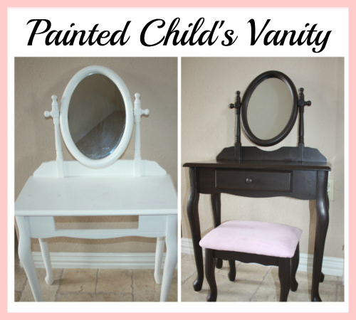 Painted Child's Vanity Table