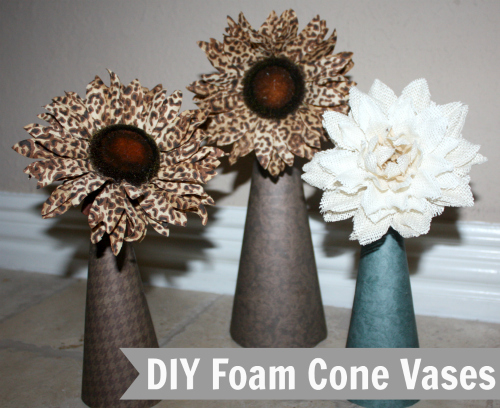 DIY Foam Cone Vases Video Tutorial 500