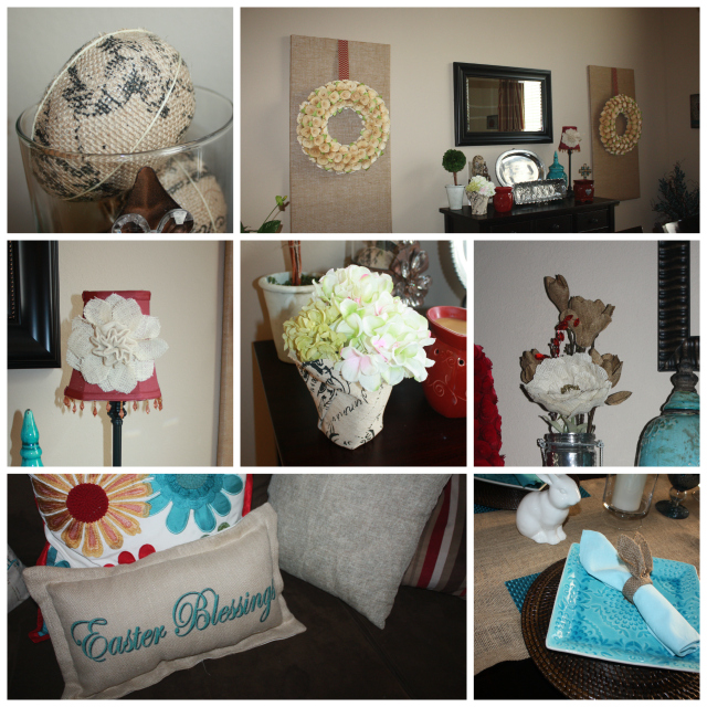 Spring Home Tour Burlap Collage