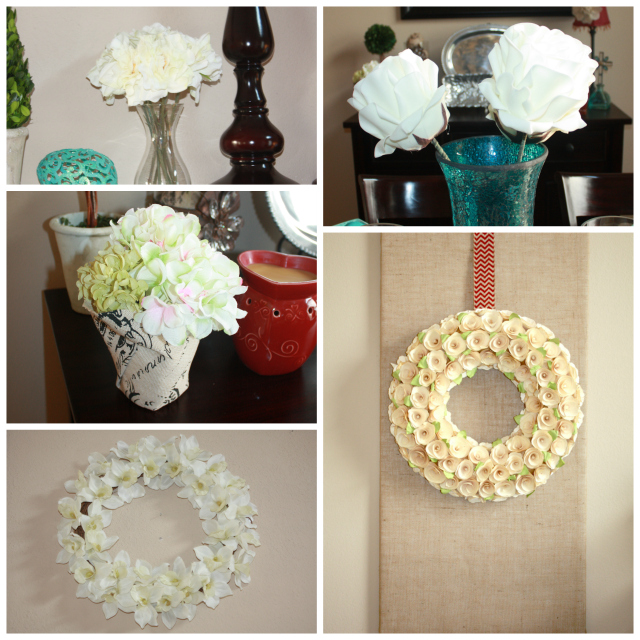 Spring Home Tour White Flower Collage