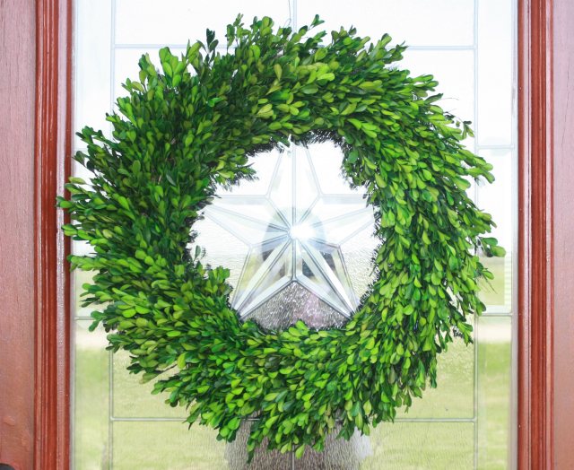 swing into spring boxwood wreath