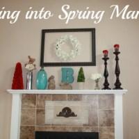 Swing into Spring Mantel