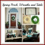 swing into spring porch wreaths and table feature
