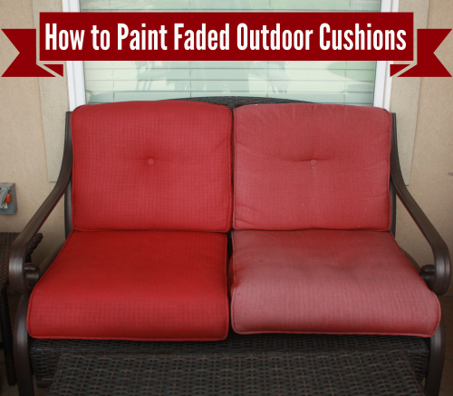 How to Freshen Up (Paint) Your Outdoor Cushions