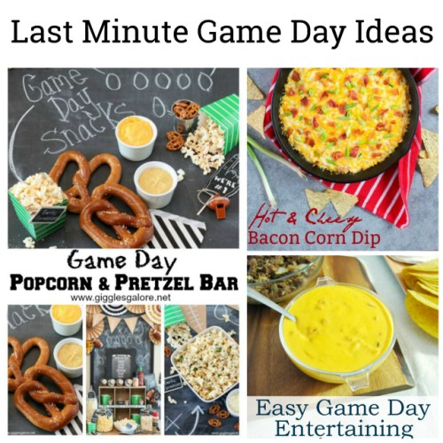 Last Minute Game Day Ideas at Sunday Features {162}