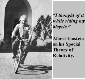 einstein_bike pause to think
