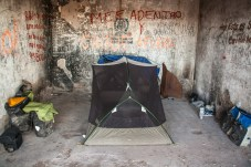 camping-in-concrete-shelter
