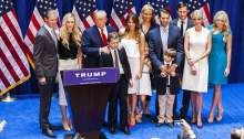 Donald Trump and family .. Aug 10 2016...