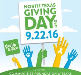 Visit Northtexasgivingday.org on September 22nd and Donate to have your donation maximized!