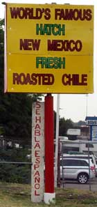 Roasted Chile at Morales Chili Store