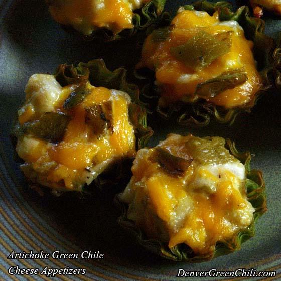 Artichoke Green Chile Cheese Appetizers - Denver Green Chili
