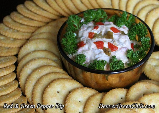 Red and Green Pepper Dip - Denver Green Chili
