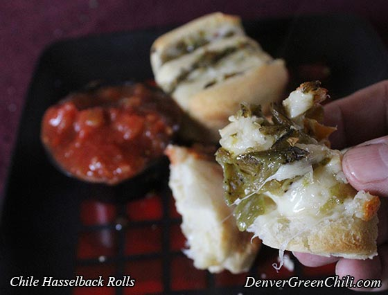 Chili Cheese Hasselback Rolls