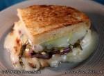Grilled Green Chile Cheesesteak sandwich