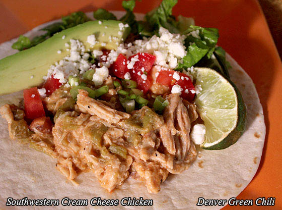 Slow Cooker Southwestern Cream Cheese Chicken