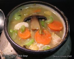 Leftover Turkey Curry Chile Soup