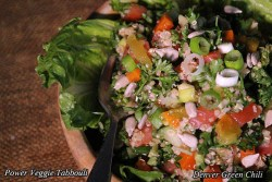 Power Veggie Tabbouli with Green Chile