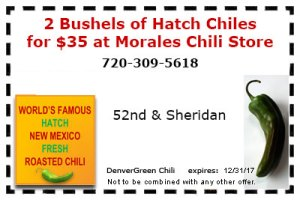Green Chile Coupon $35 for 2 bushels
