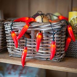 Red Chili Pepper String Lights