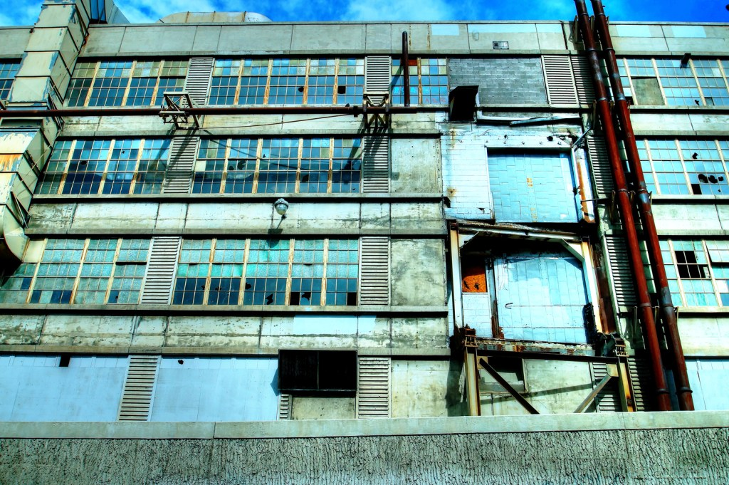 Gates Rubber abandoned building . Denver development