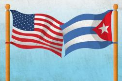 The U.S. and Cuba eased tensions last year after negotiations between President Obama and President Raul Castro of Cuba and the re-opening of the Cuban embassy in Washington, D.C.  (Rodriguez / MCT Campus)