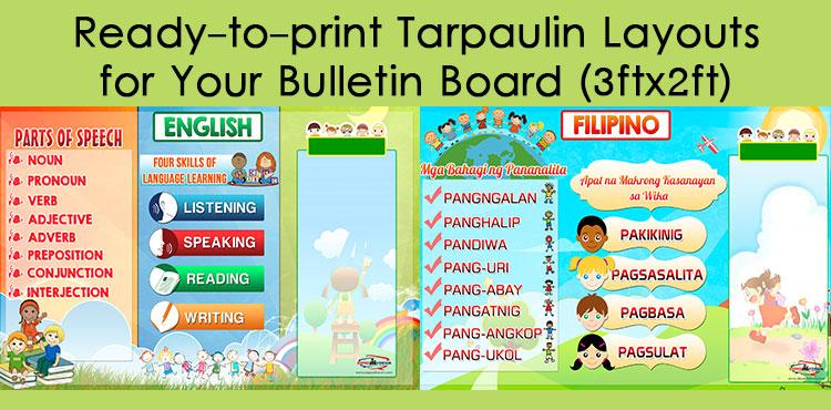 high quality tarpaulin layouts for bulletin board 3ft x