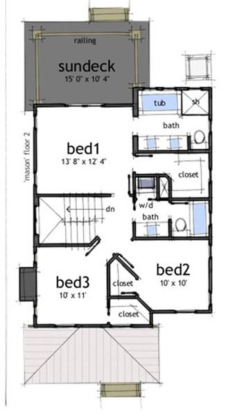 Casa de 2 pisos 3 habitaciones y 150 metros cuadrados for Piso 70 metros cuadrados 3 habitaciones