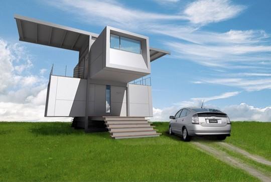 Casa ecologica de 2 pisos, 2 habitaciones y 60 metros cuadrados