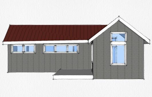 Casa de 1 dormitorio y 46 metros cuadrados planos de casas for Dormitorio 10 metros cuadrados