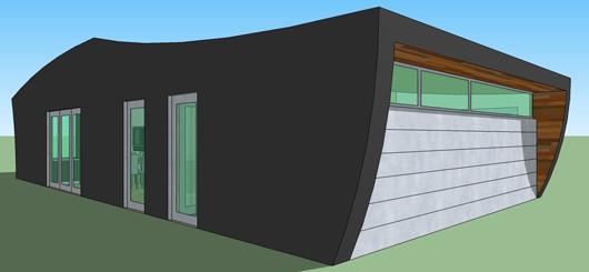 Casa moderna de un dormitorio y 78 metros cuadrados