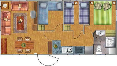 Casa prefabricada de 3 dormitorios y 40 metros cuadrados