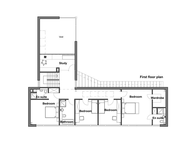 Casa moderna para esquina de 252 metros cuadrados planos for Viviendas modernas de una planta